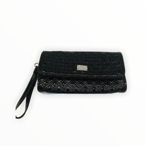 Armani Exchange Black Pebbled Wristlet